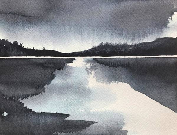 Wall Art - Painting - Winter Lake by Luisa Millicent