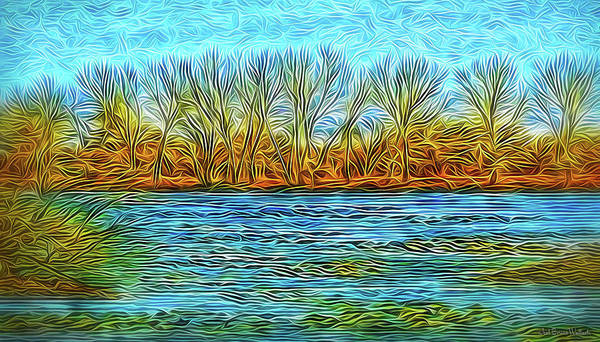 Digital Art - Winter Lake Presence by Joel Bruce Wallach