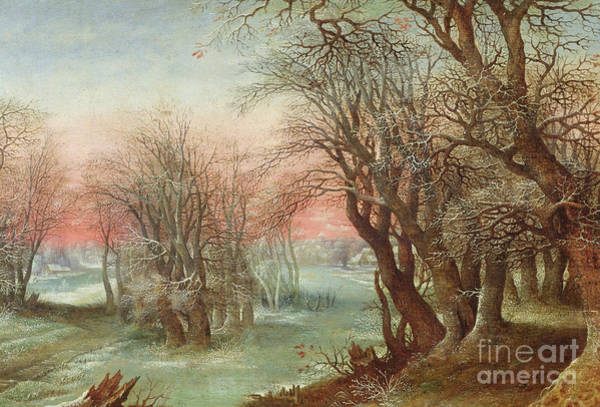 Stump Painting - Winter Landscape, 1610  by Denys van Alsloot
