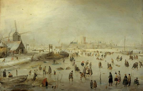 Wall Art - Painting - Winter Landscape, 1630 by Hendrick Avercamp