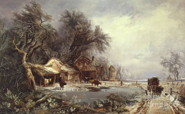 Wall Art - Painting - Winter Landscape, 1836 by William James Muller