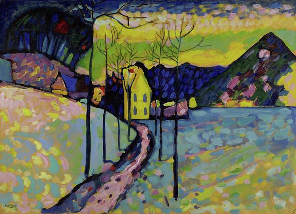 Wassily Kandinsky Painting - Winter Landscape, 1909 by Wassily Kandinsky