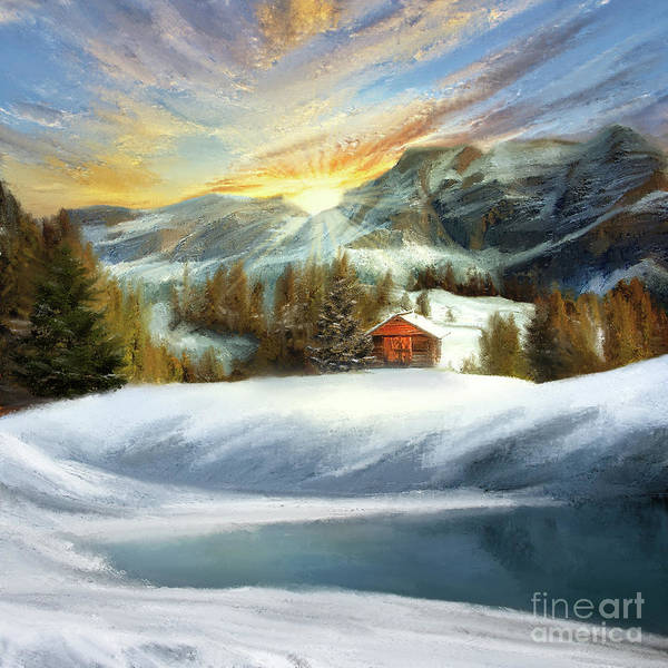 Painting - Winter Landscape by Anne Vis
