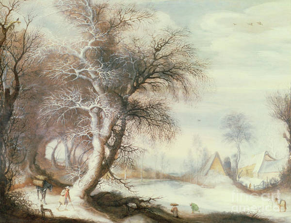 Wall Art - Painting - Winter Landscape By Gysbrecht Lytens Or Leytens by Gysbrecht Lytens or Leytens