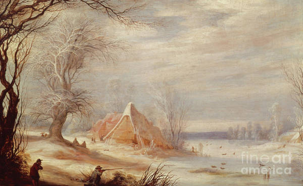 Wall Art - Painting - Winter Landscape By Lytens Or Leytens by Gysbrecht Lytens or Leytens
