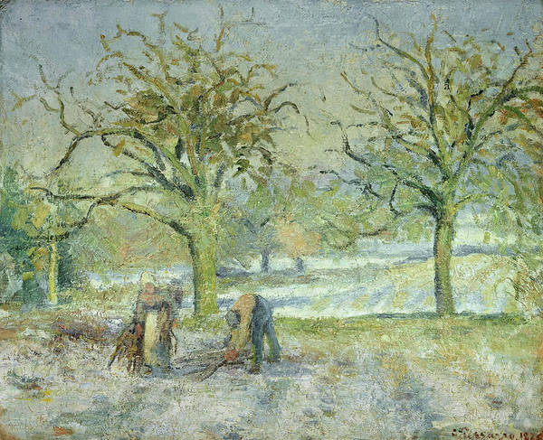 Wall Art - Painting - Winter Landscape by Camille Pissarro