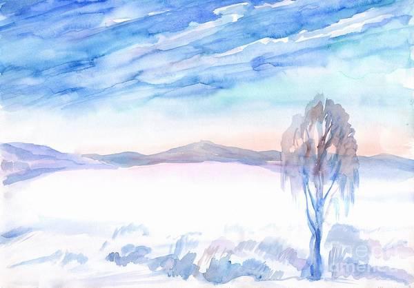 Painting - Winter Landscape by Irina Dobrotsvet
