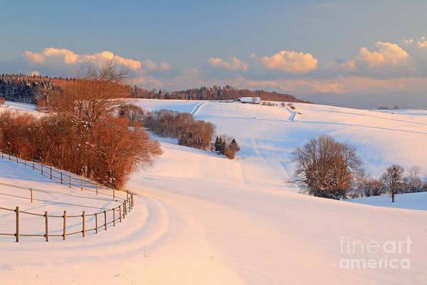 Wall Art - Photograph - Winter Landscape Near The Village Of by Pixelcruiser