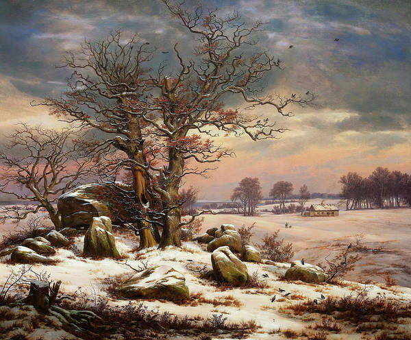 Wall Art - Painting - Winter Landscape Near Vordingborg, Denmark - Digital Remastered Edition by Johan Christian Dahl