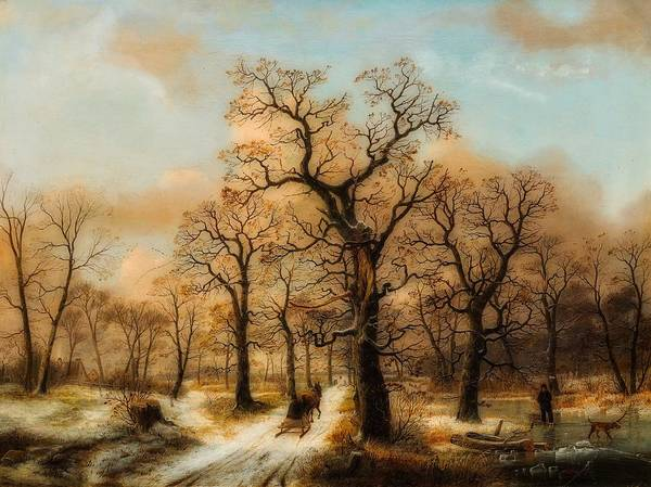 Wall Art - Painting - Winter Landscape With Snow by Circle Of Ernst Ferdinand Oehme