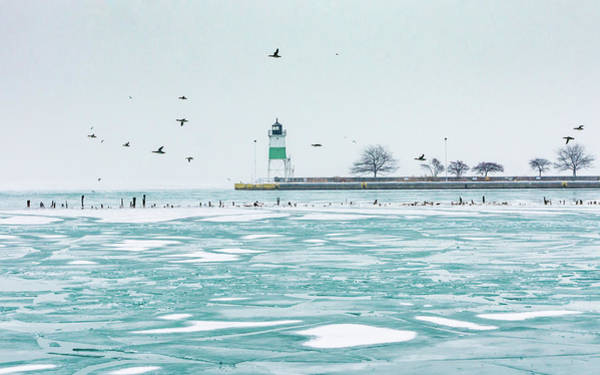 Photograph - Winter Lighthouse by Framing Places