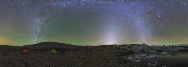 Wall Art - Photograph - Winter Milky Way And Zodiacal Light by Jeff Dai