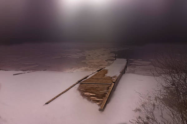 Photograph - Winter Moonlight And Fog by Bob Orsillo