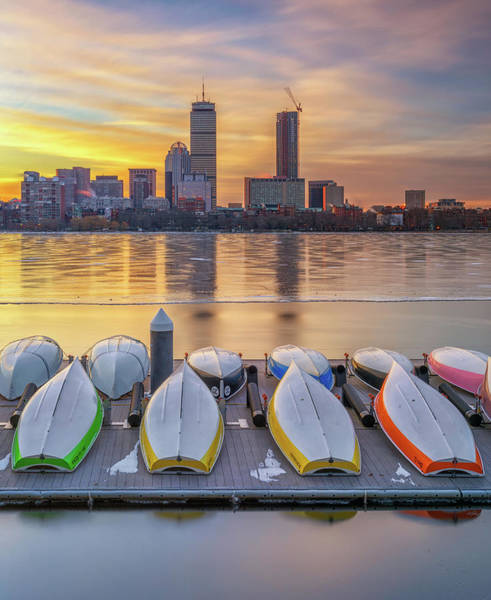 Photograph - Winter Morning At Mit's Sailing Pavilion by Kristen Wilkinson