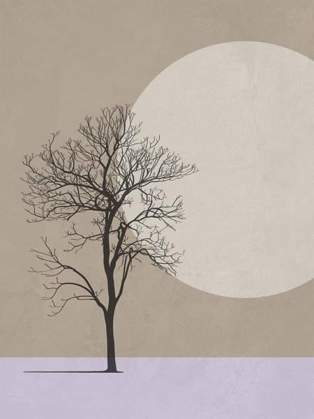 Earth Day Wall Art - Mixed Media - Winter Morning Tree by Naxart Studio