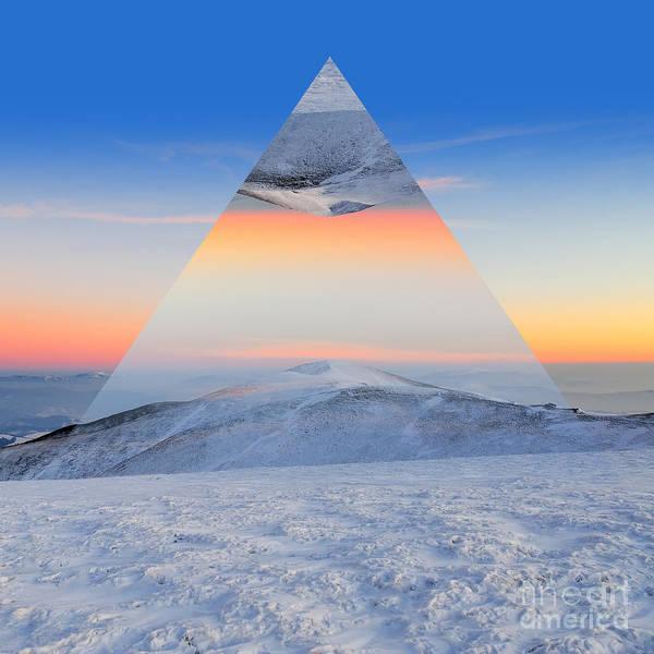 Wall Art - Photograph - Winter Mountain Landscape At Sunset by Volodymyr Burdiak