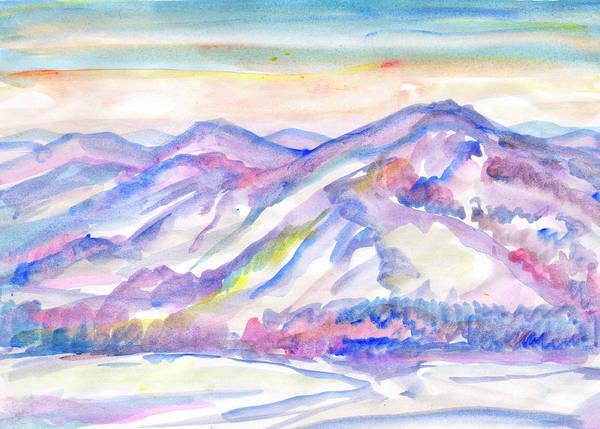 Painting - Winter Mountain Landscape by Irina Dobrotsvet