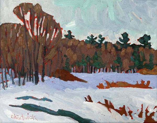 Painting - Winter On Long Reach Lane by Phil Chadwick