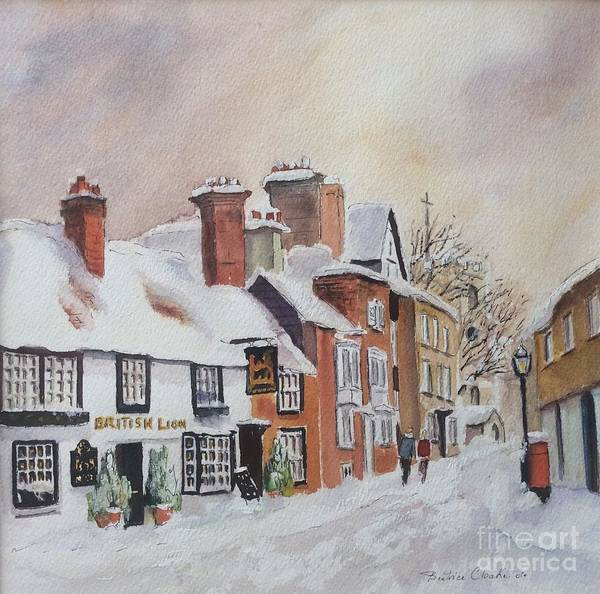 Painting - Winter On The Bayle. Folkestone by Beatrice Cloake