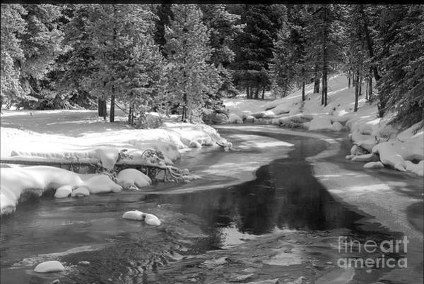 Firehole River Wall Art - Photograph - Winter On The Firehole River - Yellowstone National Park by Sandra Bronstein