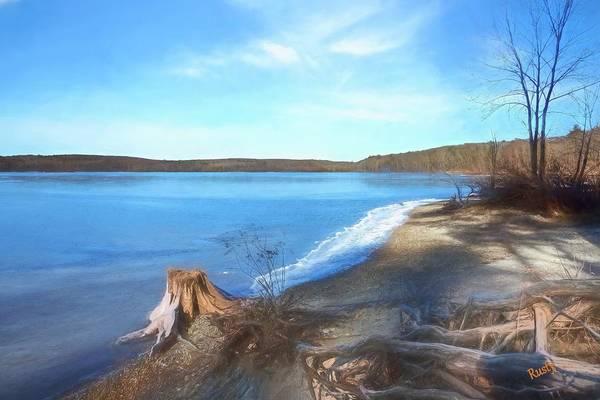 Digital Art - Winter Pond by Rusty R Smith