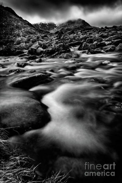 Wall Art - Photograph - Winter Rapids Snowdonia by Adrian Evans