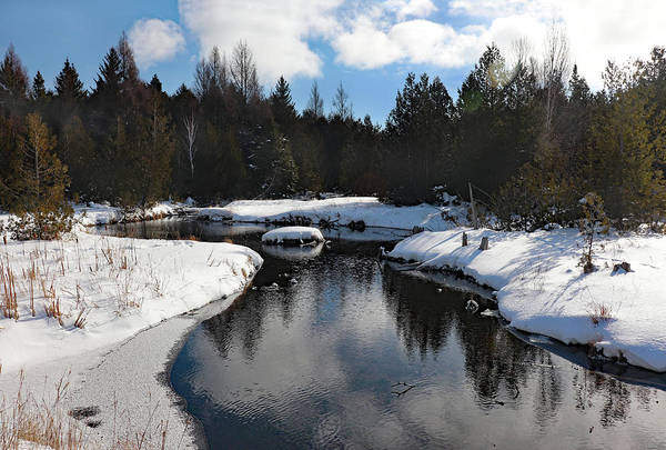 Photograph - Winter Reflection At Three Springs by David T Wilkinson