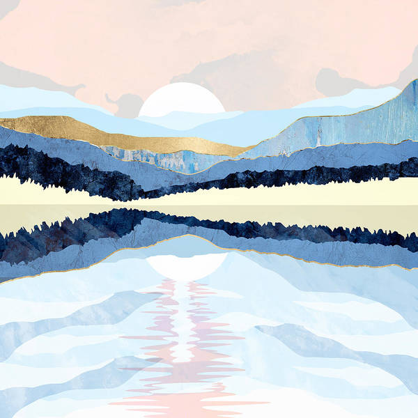 Wall Art - Digital Art - Winter Reflection by Spacefrog Designs