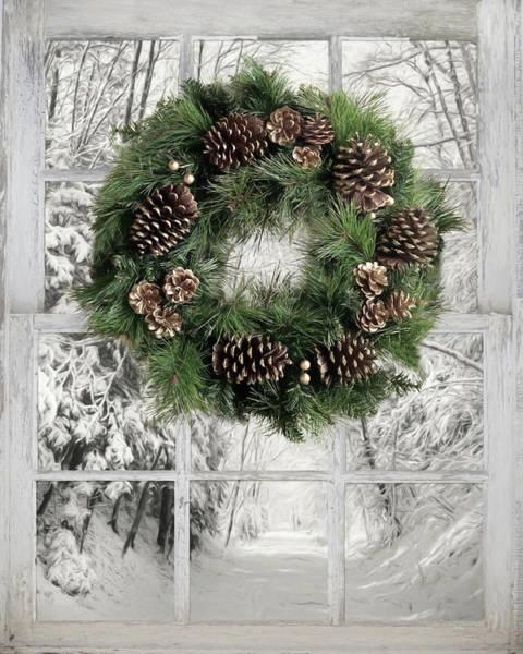 Wall Art - Mixed Media - Winter Road by Lori Deiter