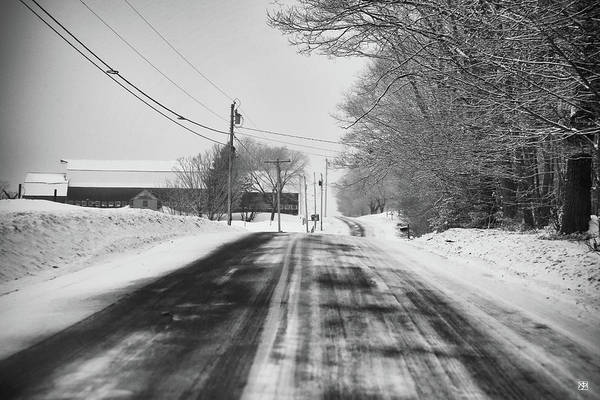Photograph - Winter Road--mt. Vernon by John Meader