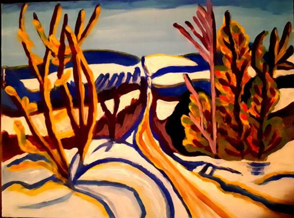 Painting - Winter Road by Nikki Dalton