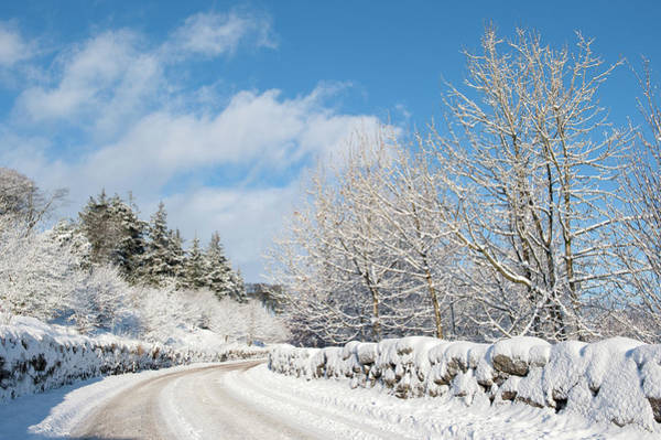 Photograph -  Winter Road On Dartmoor by Helen Northcott