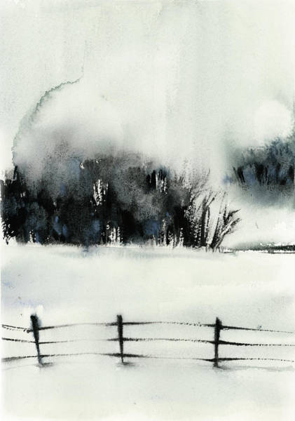 Wall Art - Painting - Winter Scape IIi by Sophia Rodionov