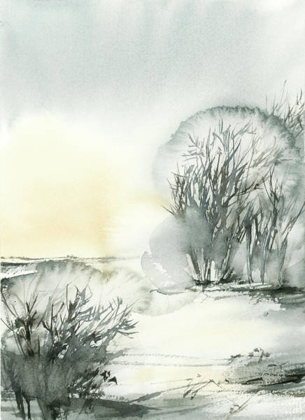 Wall Art - Painting - Winter Scape Iv by Sophia Rodionov