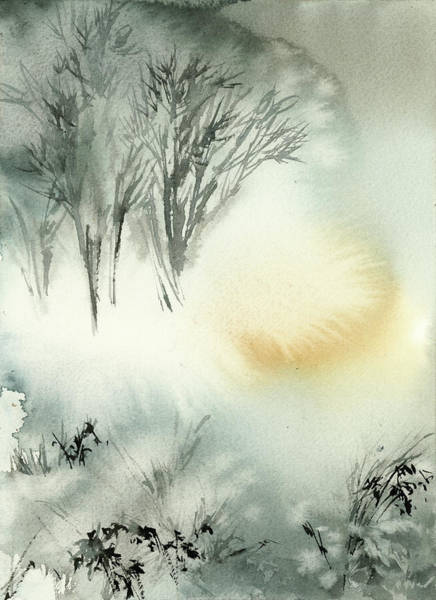 Wall Art - Painting - Winter Scape V by Sophia Rodionov
