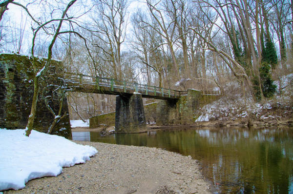 Wall Art - Photograph - Winter Scene Along The Wissahickon Creek At Kitchens Lane by Bill Cannon