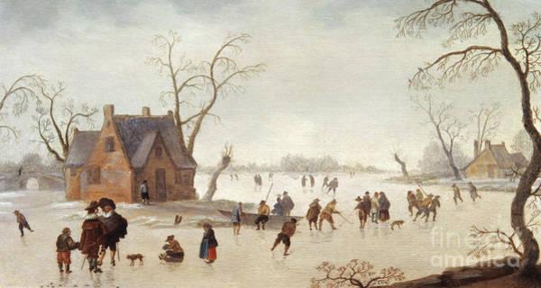 Wall Art - Painting - Winter Scene By Antoni Verstralen  by Antoni Verstralen  van Stralen