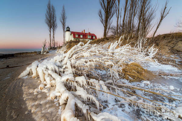 Wall Art - Photograph - Winter Shore At Point Betsie by Twenty Two North Photography
