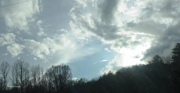 Photograph - Winter Sky - Western North Carolina by Paulette B Wright