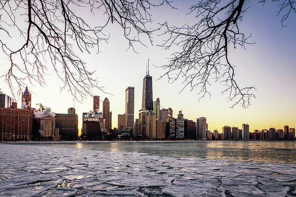 Photograph - Winter Skyline by Framing Places
