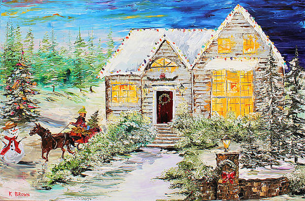Painting - Winter Sleigh by Kevin Brown
