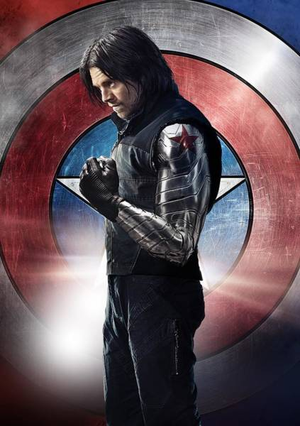 Winter Soldier Textless Poster Art Print