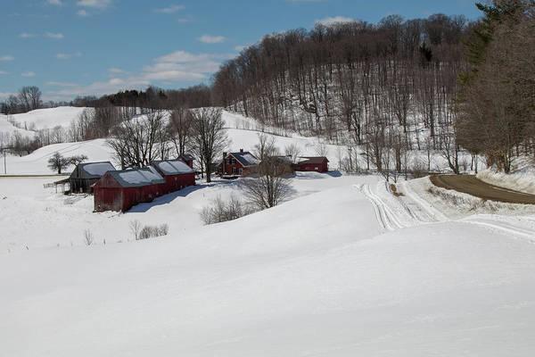 Photograph - Winter Still Holds On At The Jenne Farm by Jeff Folger