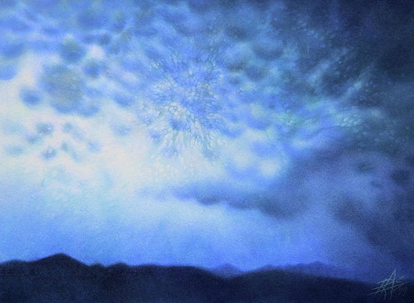 Winter Storm Or Mammatus Clouds Over Black Mountain Art Print by Robin Street-Morris