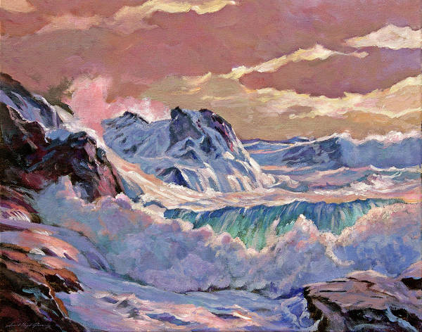 Painting - Winter Storm Oregon Coast by David Lloyd Glover
