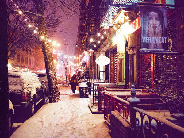 Wall Art - Photograph - Winter Storm - Snow In The East Village - Nyc by Vivienne Gucwa