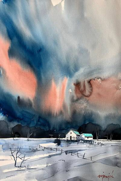 Wall Art - Painting - Winter Storm by Ugljesa Janjic
