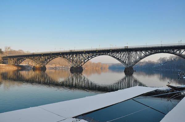 Photograph - Winter - Strawberry Mansion Bridge by Bill Cannon
