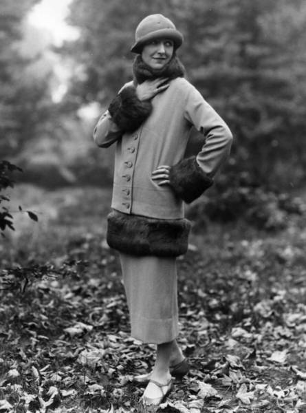 1924 Photograph - Winter Suit by Sasha