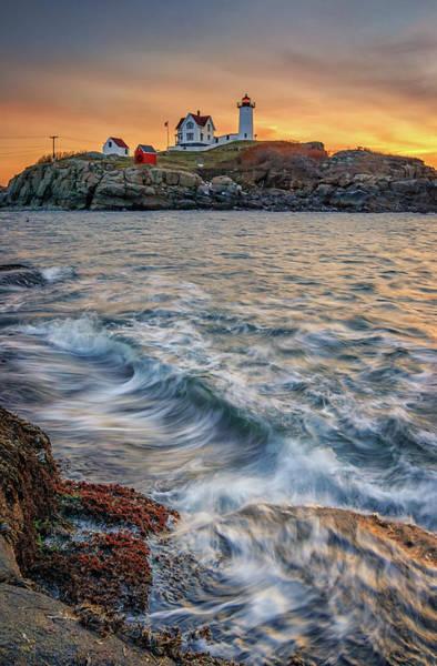 Photograph - Winter Sunrise At Cape Neddick by Kristen Wilkinson